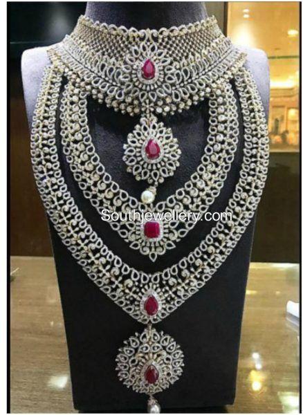 Diamond Jewellery Set by P Satyanarayan & Sons Jewellers photo