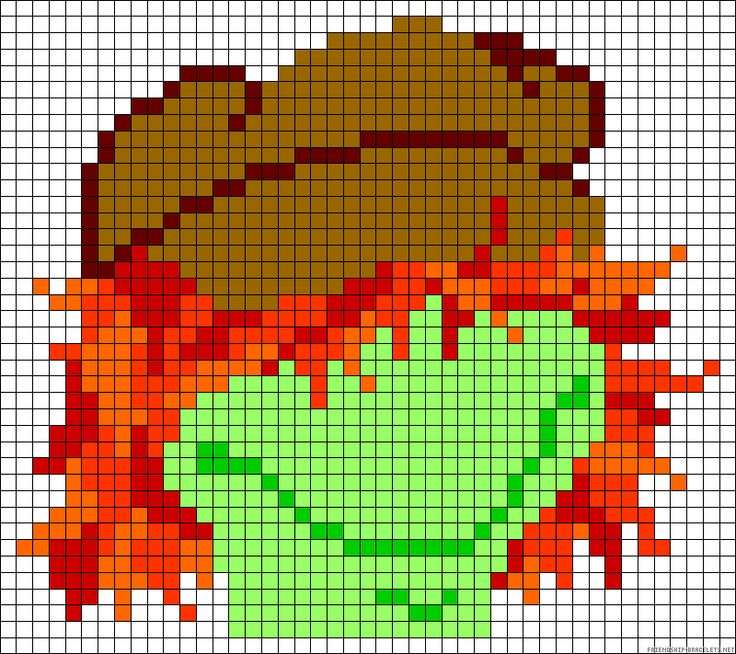 Boober Fraggle Rock perler bead pattern