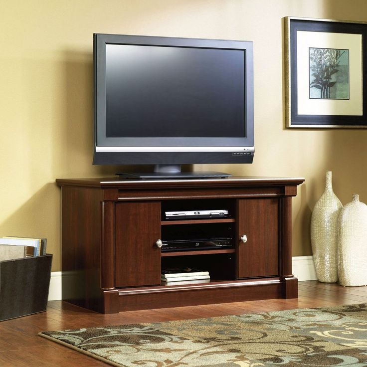 TV Stand Entertainment Center Sauder 411864 Palladia Cherry Panel Wood Storage #Sauder#TVStand#EntertainmentCenter#Woodstorage#gamingconsole