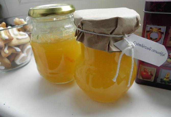 Gyömbérzselé citrusokkal recept képpel. Hozzávalók és az elkészítés részletes leírása. A gyömbérzselé citrusokkal elkészítési ideje: 15 perc