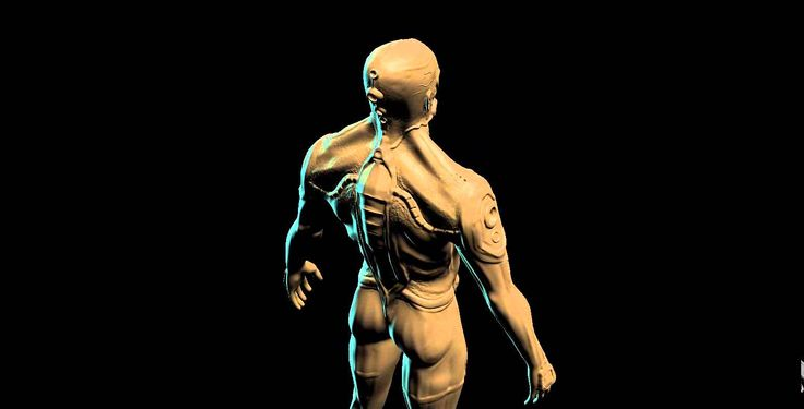 3D SCULPTURE OF MAN