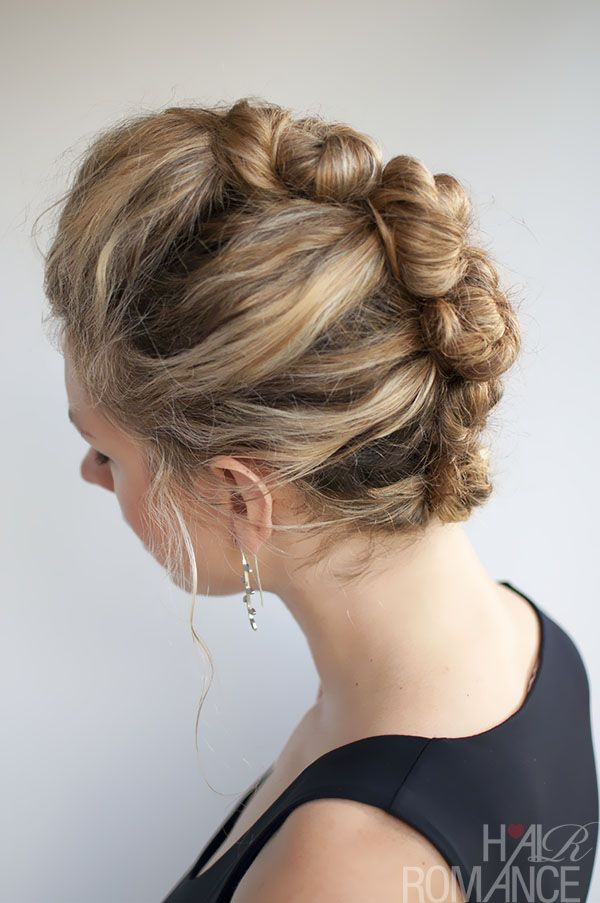 Curly Hair Tutorial The French Roll Twist And Pin Hairstyle Hair