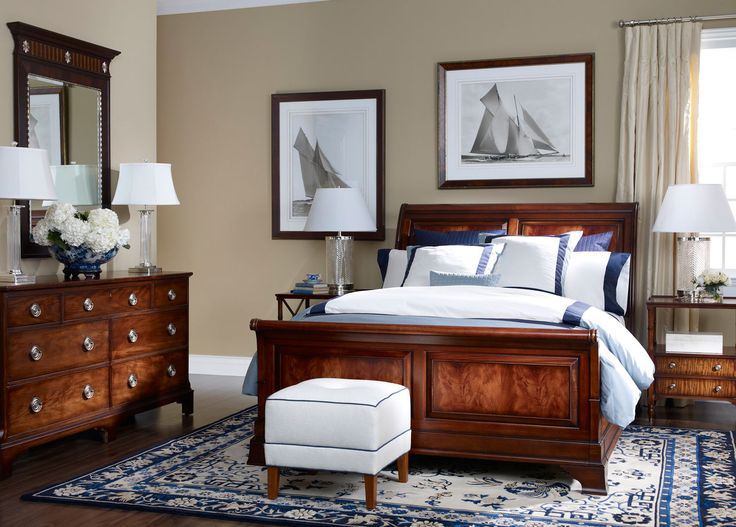 Be lulled to sleep in this romantic Somerset sleigh bed by Ethan Allen  The carved molding wraps completely around the headboard rails and footboard 365 best interiors images on Pinterest allen
