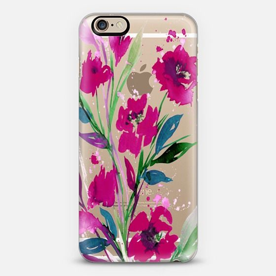 """Pocketful of Posies, Magenta Pink Teal Green"" by Ebi Emporium on @casetify , Artist Julia Di Sano, #colorful #iphonecase #iphone6 #iphone6s #tropical #garden #bouquet #romantic #girly #pink #teal #green #floral #floraliphone #floralcase #watercolor #flowers #spring #summer #tech #case #samsung #iphone6plus #iphone6splus #iphone5s #phonecase #EbiEmporium #whimsical #transparent #lovely #botanical #feminine #chic #style"