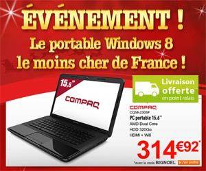 Vente flash : Compaq Presario CQ58-230SF ordinateur portable 15,6 pouces Windows 8 pour moins de 315 euros et livraison gratuite | Maxi Bons Plans