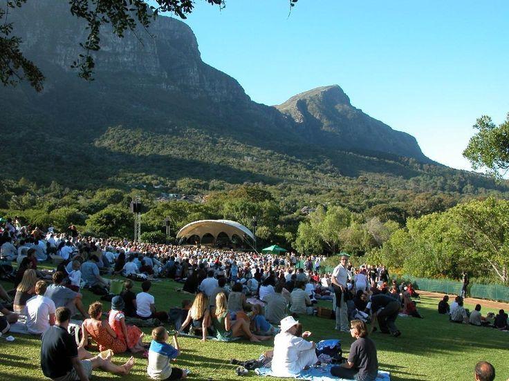 Sunday evening concert at Kirstenbosch