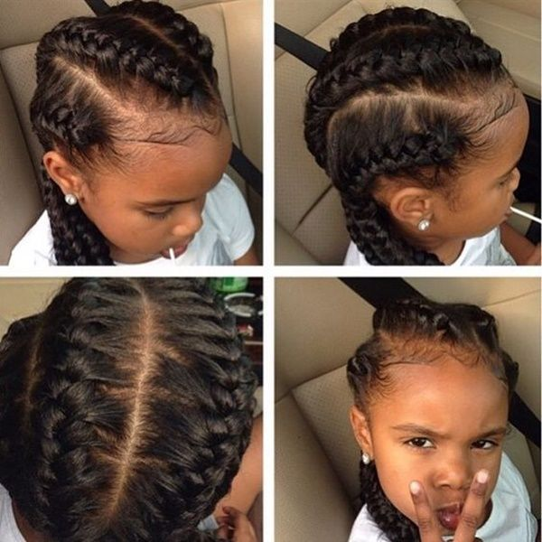 75 Easy Braids For Kids With Tutorial Mixed Girl Hairstyles Natural Hair Styles Hair Styles