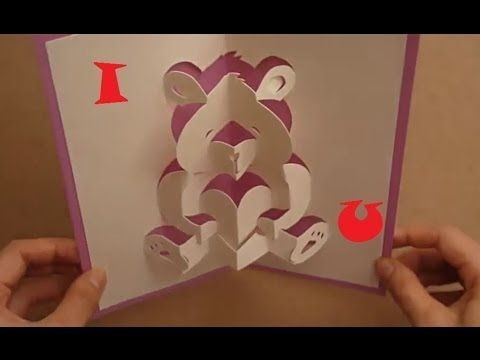 teddy bear pop up card template free - mother 39 s day pop up card tutorial teddy bear of love
