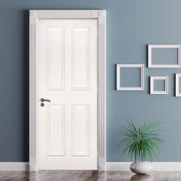 Rochester White Primed Door with Raised Mouldings is 1/2 Hour Fire Rated. #deantadoor #whitedoor #paneldoor