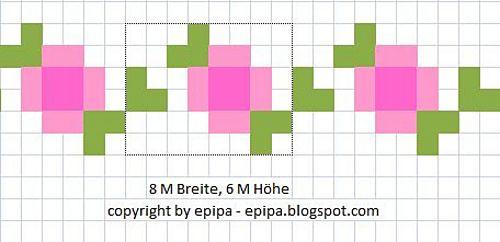 Ravelry: little roses - chart pattern by epipa