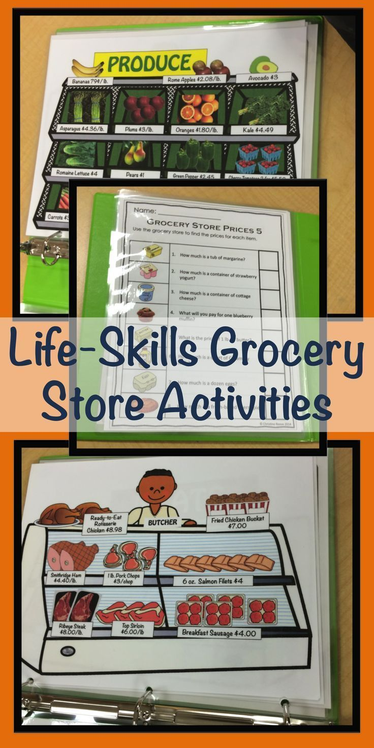 Free Worksheet Basic Living Skills Worksheets 17 best ideas about life skills activities on pinterest special education grocery store for functional autism