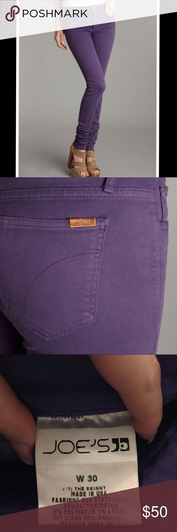 Joe's Purple Skinny Jeans Beautiful Joe's Jeans in a light purple color. I've worn them two or three times. They're in great condition! Joe's Jeans Jeans Skinny