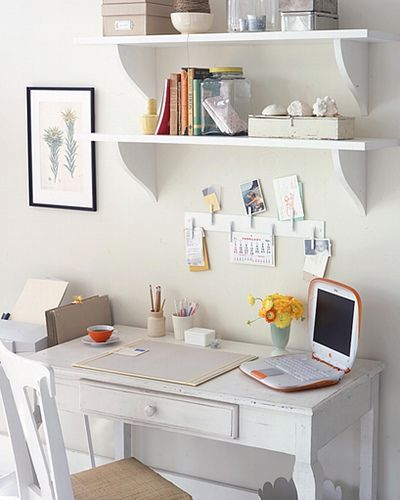 my quiet place: petite vanou:: Desks Area, Ideas, Floating Shelves, Offices Home, Offices Spaces, Desks Organic, Offices Decor, Home Offices, Offices Organic