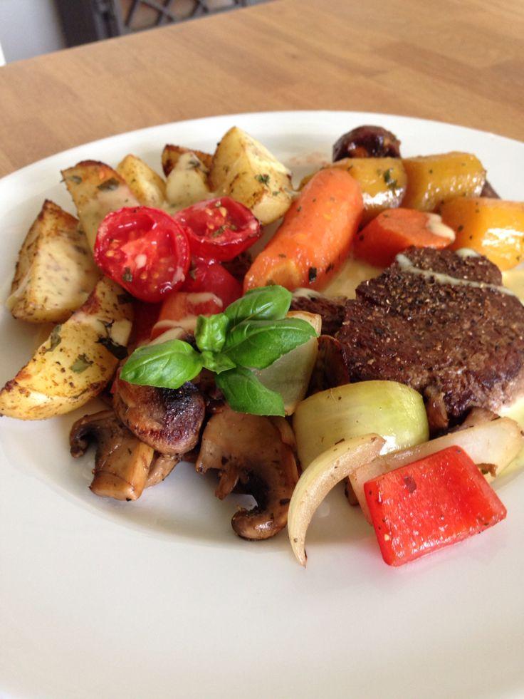 Tenderloin with vegetables
