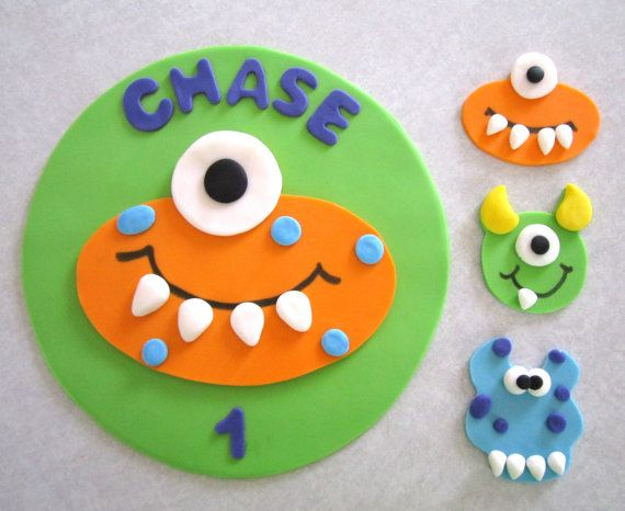 Monster Cake and Cupcake Topper Assortment by sweetenyourday
