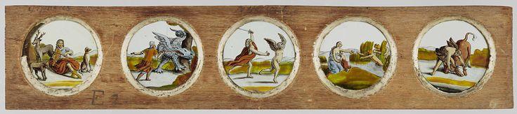 Vijf taferelen uit de klassieke mythologie, anonymous, c. 1700 - c. 1790