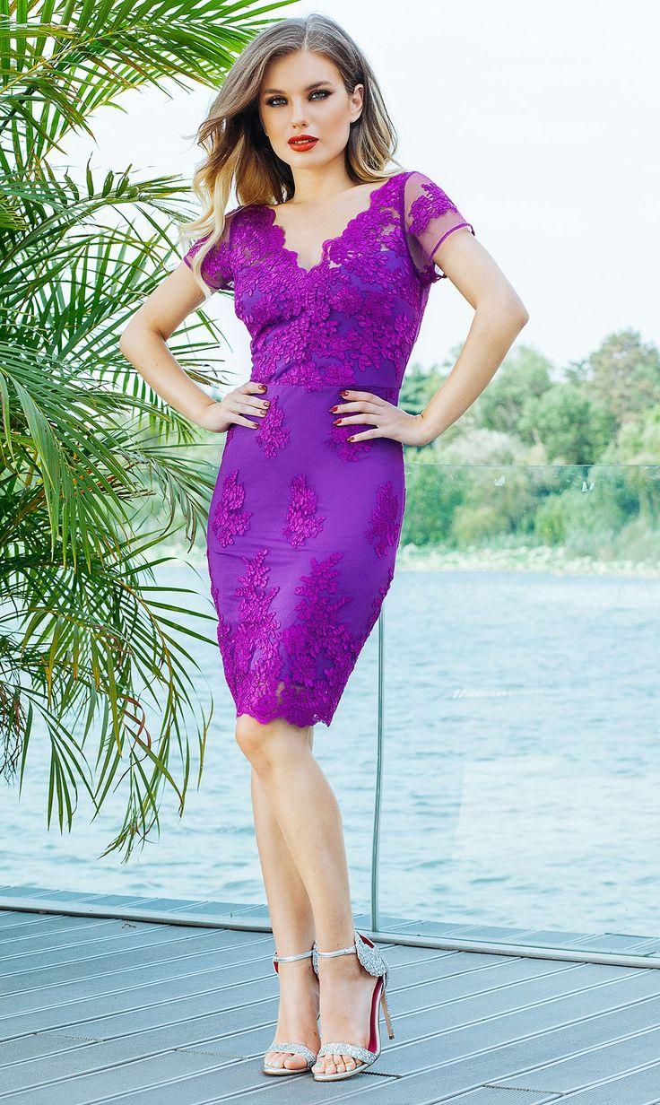 Mejores 118 imágenes de Lace dresses en Pinterest | Vestidos de ...
