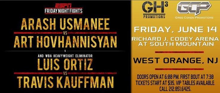Watch Travis Kauffman vs Luis Ortiz Live Boxing Fight on ESPN 14 June » Watch Fight Live Stream