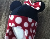 Fleece Winter Hat Minnie Mouse inspired