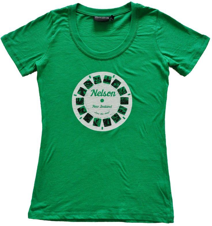 Ladies Nelson Viewfinder T Shirt Apple