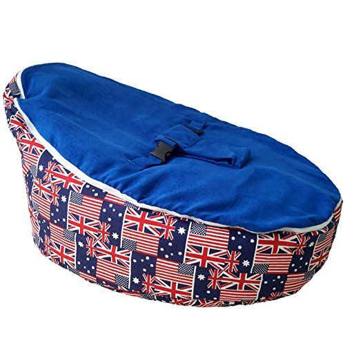 UNFILLED Baby Bean Bag Chair   Cozy Adaptable Newborn Seat Lounger   Lightweight and Portable   Anti-Flat Head   2 Soft Removable Top Covers   3-point Safety Harness For Infants (MULTI FLAG)  Use it as a snuggle bed for your infant and convert it to a toddler bean bag chair later  You can easily move it inside the house or take it to the car for a comfy baby visits to relatives  You can unzip the top seat cover and wash it if needed  Pushing the filler to the back and putting your baby...