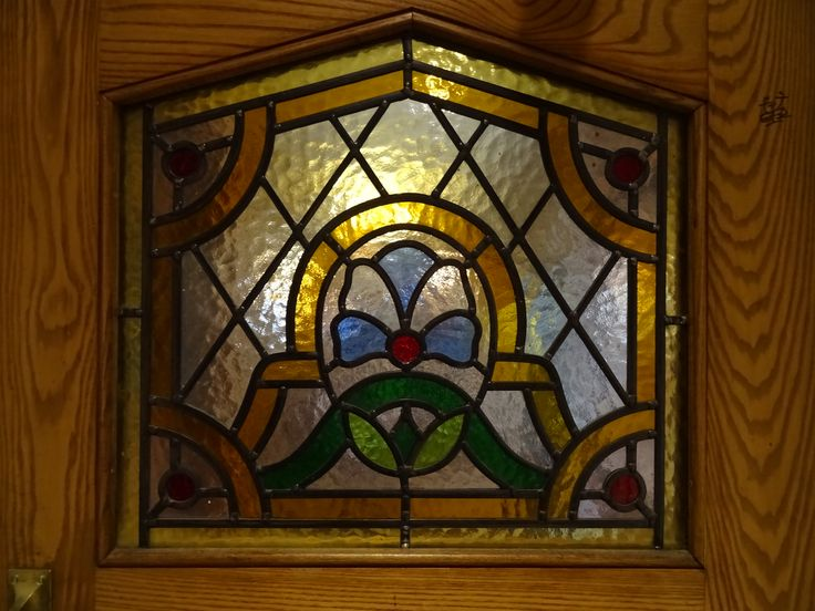 Brewers Fayre Crown Carvery Stained Glass door window