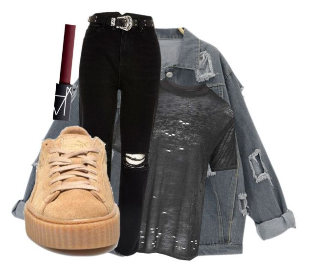 Puma x Rihanna Creepers by clothesforfuture on Polyvore featuring polyvore fashion style Topshop River Island NARS Cosmetics clothing