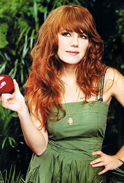 Jenny Lewis of Rilo Kiley.Beverly Hills, Girls Crushes, Jenny Lewis, Hair Colors, Red Hair, Beds Head, Style Icons, Green Dresses, Florence Welch