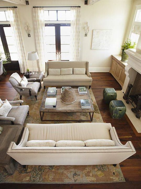 for layout: i like the idea of stools in front of the fire place, and the two armchairs next to each other.