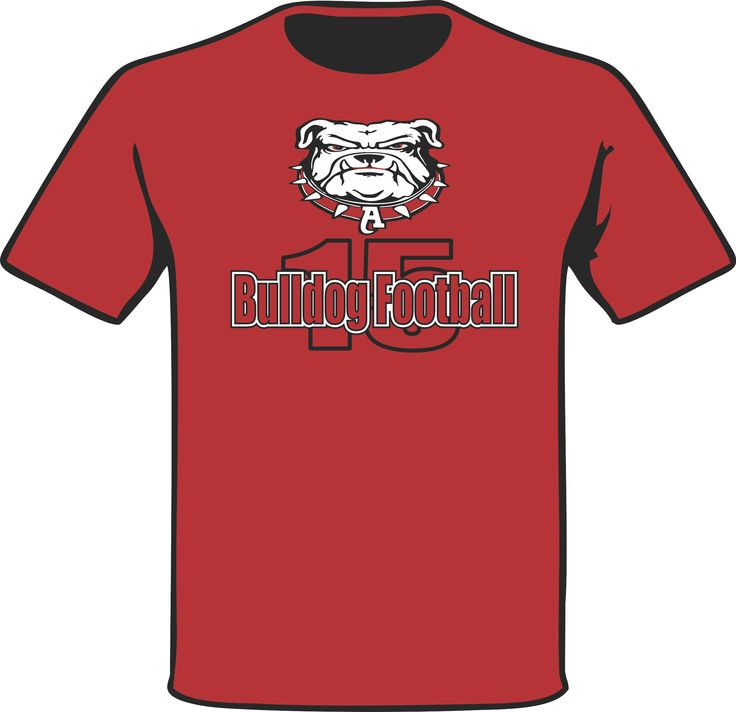 A Chest logo piece on a Red T-Shirt for the 2015 football Coaching Staff of Ayala High School. #PracticeGear #BulldogNation #AyalaBulldogs #ArtWorkRendering