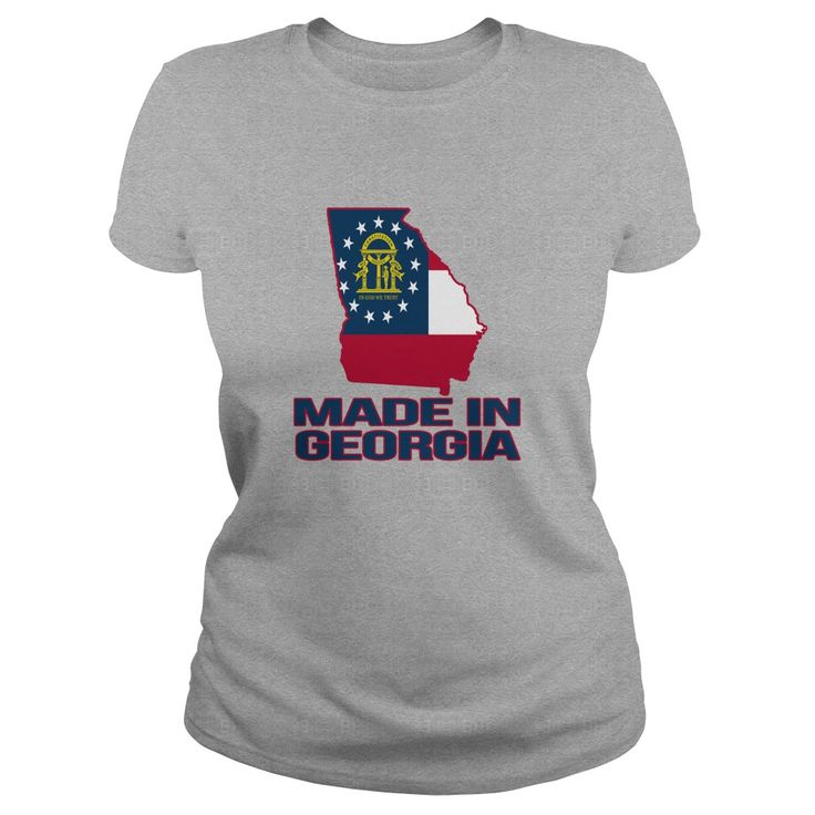 Made in Georgia shirt Featuring the GA Flag is a great gift for anyone born in GA