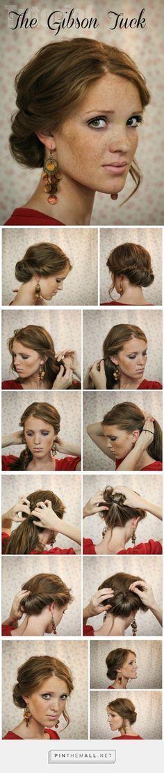 The Freckled Fox: Hair Tutorial // Die Gibson Tuck … – ein Bild mit Gruppenbildern
