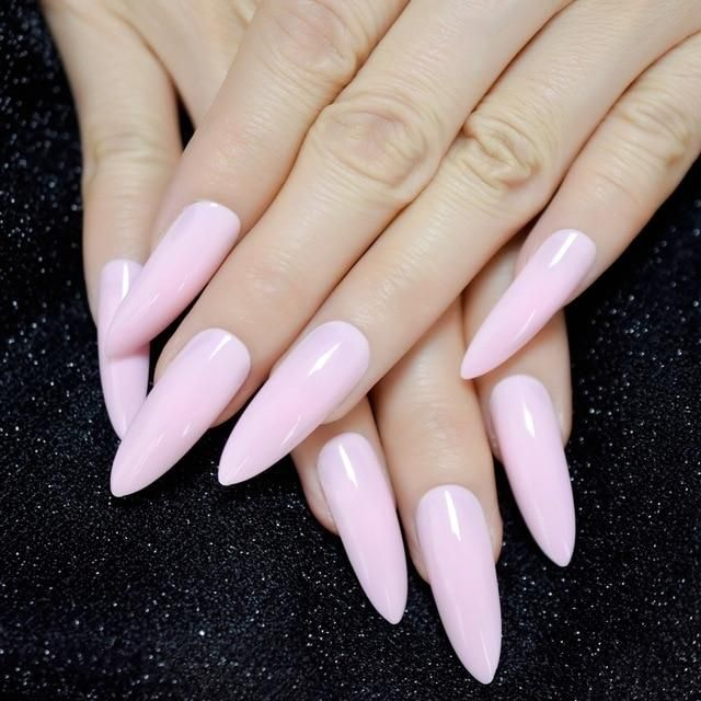 """Amanda"" Extra Long Glossy Nails ""Amanda"" Extra Long Glossy Nails – Fake Nail Store"