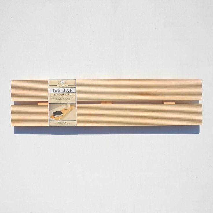 Hinoki Wood Tub Bar