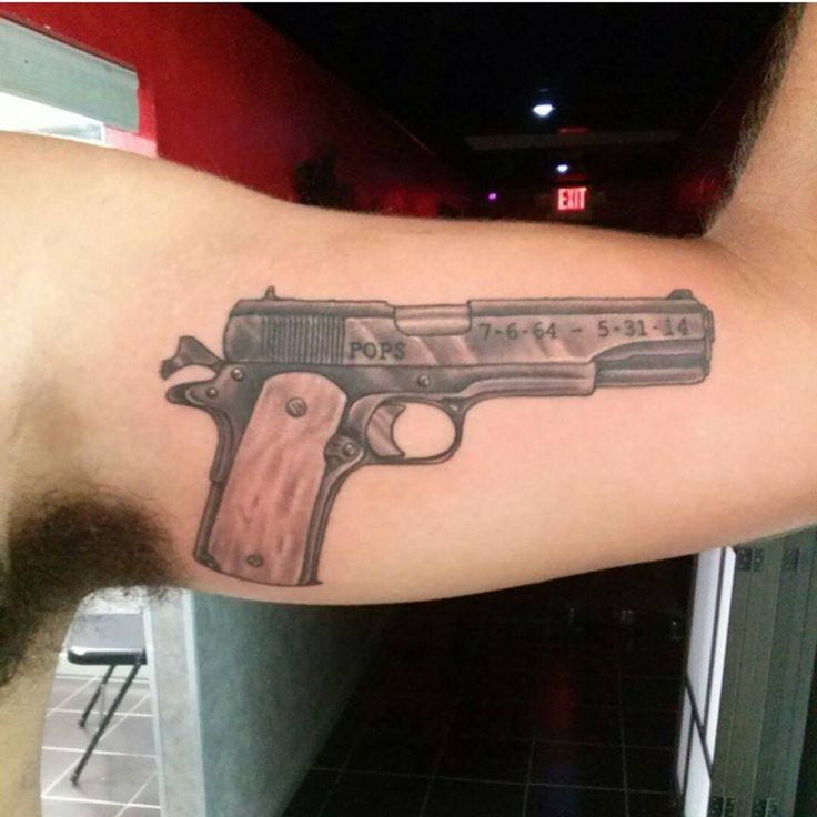 Tattoo done by Chad. #bodytechtattoo #gainesvilletattoo #guntattoo