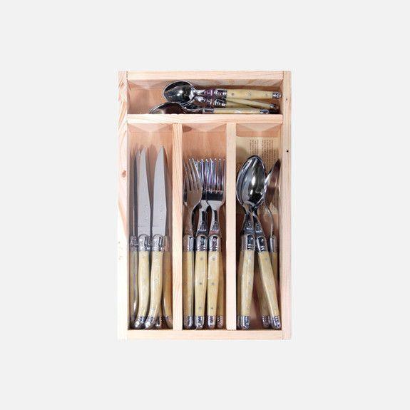 Jean Dubost - Laguiole 24 Piece Cutlery Set