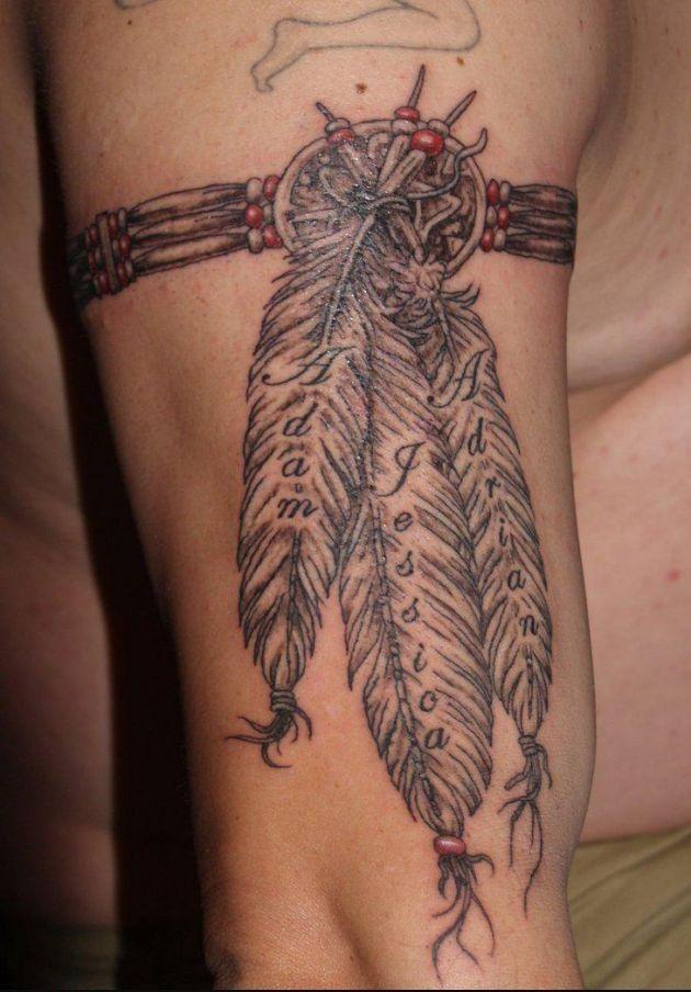 Native indian tribal tattoos