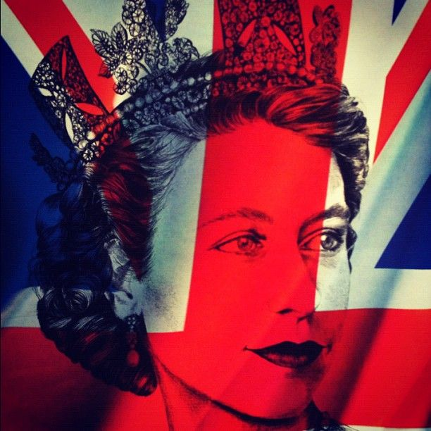young queen union jack art