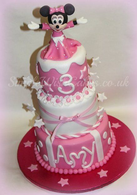 3 Tier Minnie Mouse Cake