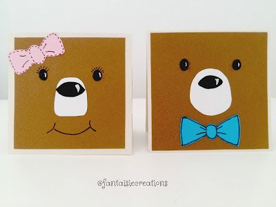 Fantaisie Creations: Κάρτες με αρκουδάκι