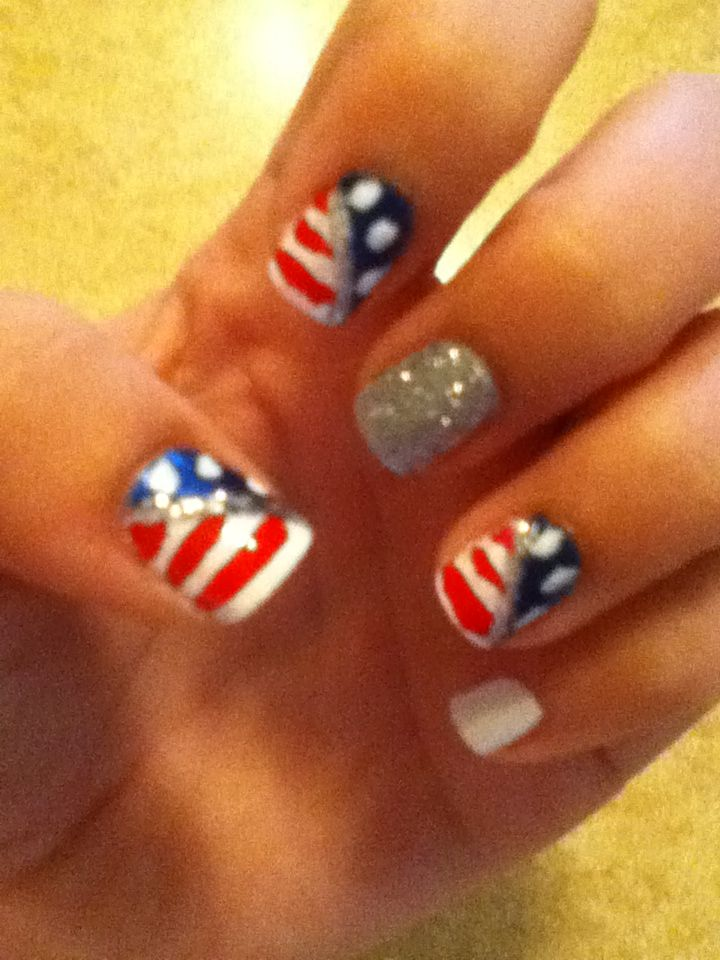 Patriotic Fourth of July nails!