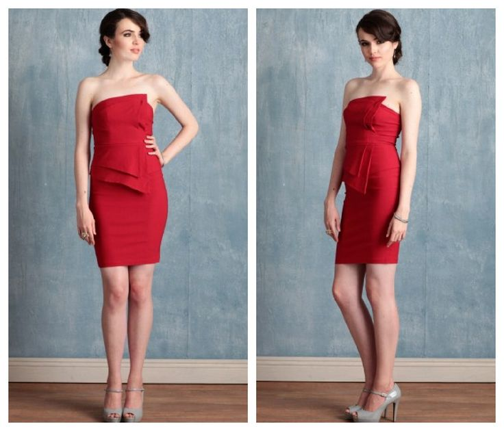 16 best Red Bridesmaid Dress images on Pinterest   Red bridesmaids ...