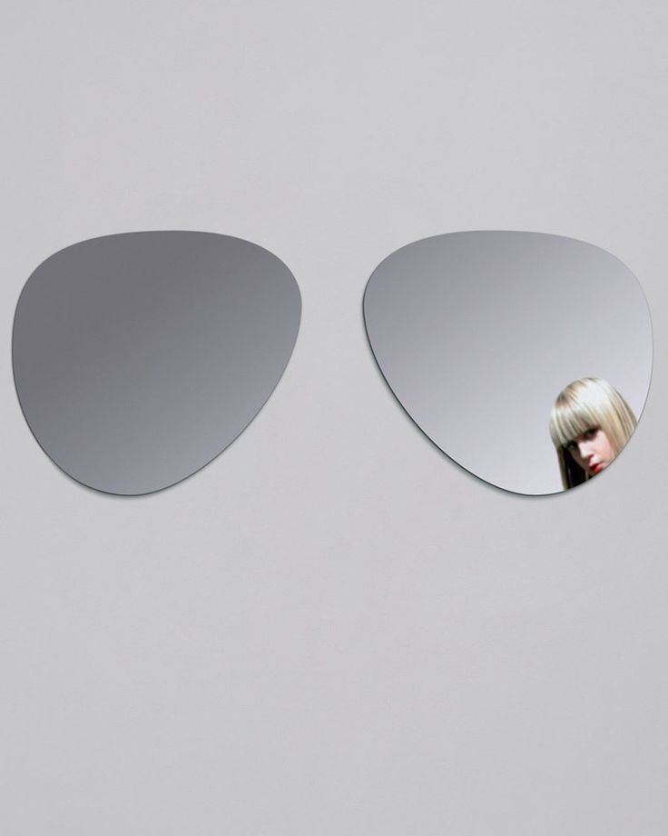 Sunglasses Shaped Wall Sticker Mirror, Large | Free Delivery