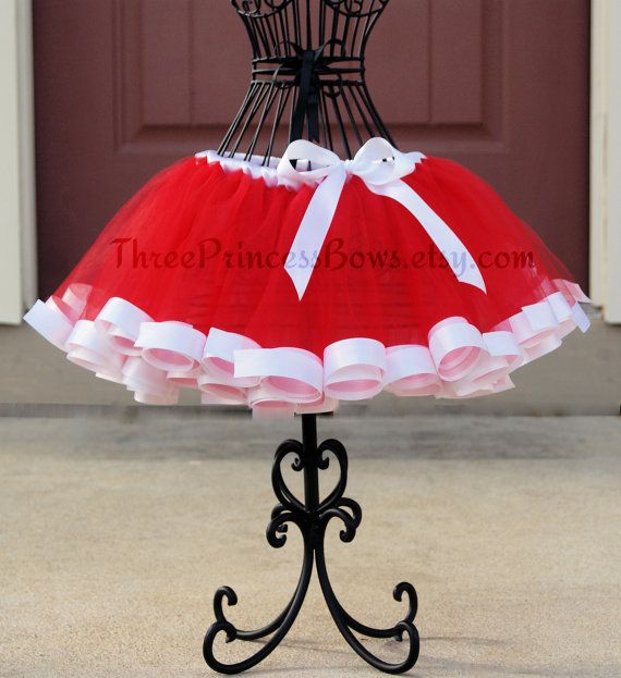 Santa+Ribbon+Trim+Tutu+by+ThreePrincessBows+on+Etsy,+$45.00