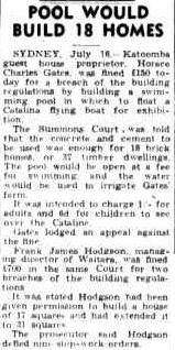 Horace (Horrie) Gates, the man who started Catalina amusement park -  ..........Townsville Daily Bulletin 17 July 1948, page 1