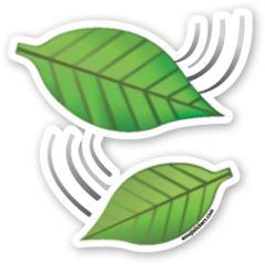 Leaf Fluttering in Wind | Emoji Stickers