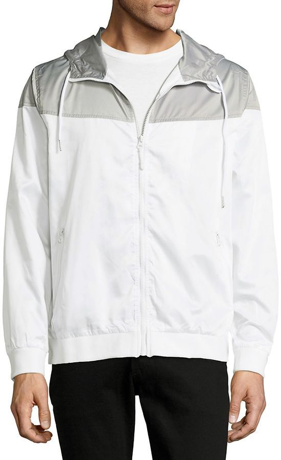 Standard Issue NYC Men's Colorblock Drawstring Windbreaker