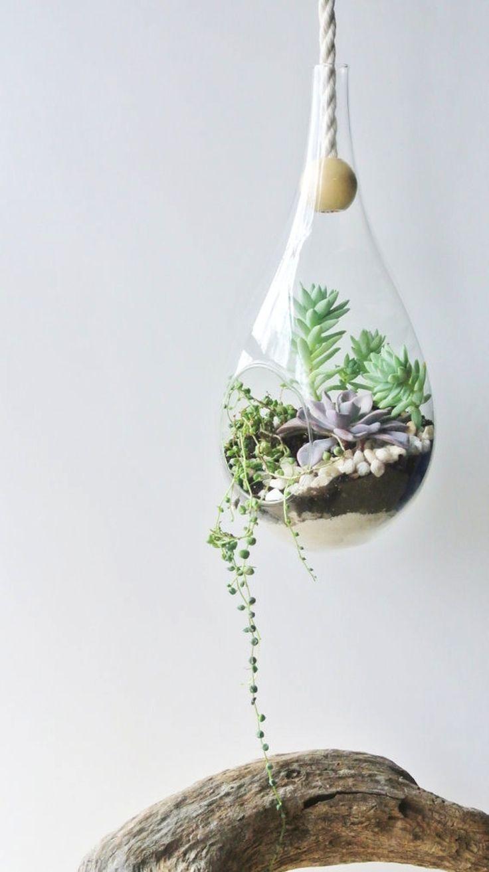 les 25 meilleures id es de la cat gorie terrarium suspendu sur pinterest terrarium terrariums. Black Bedroom Furniture Sets. Home Design Ideas