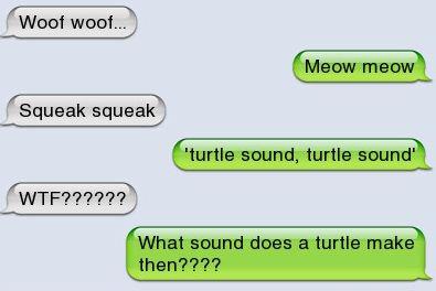 Funny text – Animal noises