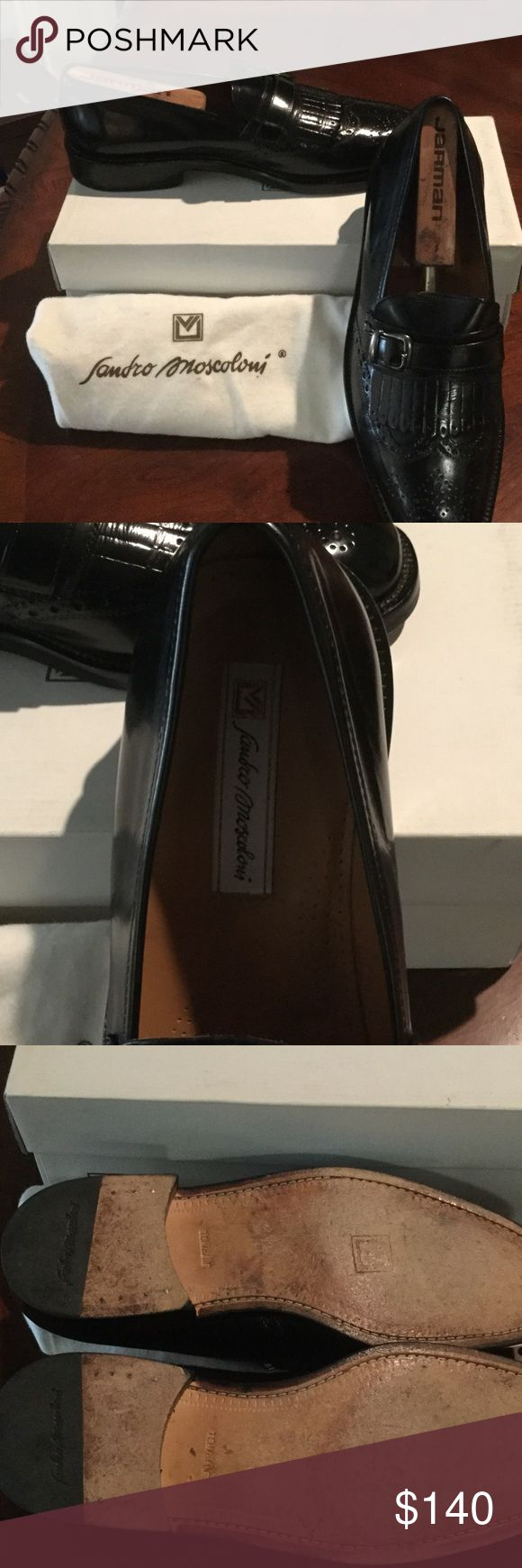 Sandro Moscoloni Men Shoes These shoes are like new condition,They were purchase at Nordstrom for $329 the leather is impeccable and my husband keeps shoe trees in all of his shoes and they were also kept in dust bag inside of box. Sandro Moscolino Shoes Loafers & Slip-Ons